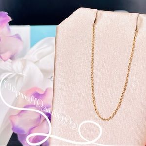 """Tiffany & Co. 18k Rose Gold Pendant Necklace Chain, 16"""""""